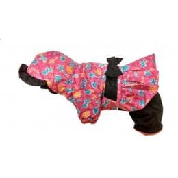 Комбинезон Pink Zoo зимний на синтепоне и флисе с капюшоном для собак