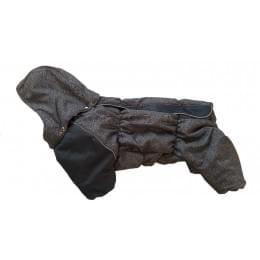 Комбинезон Jeans Long зимний на синтепоне и флисе с капюшоном для собак