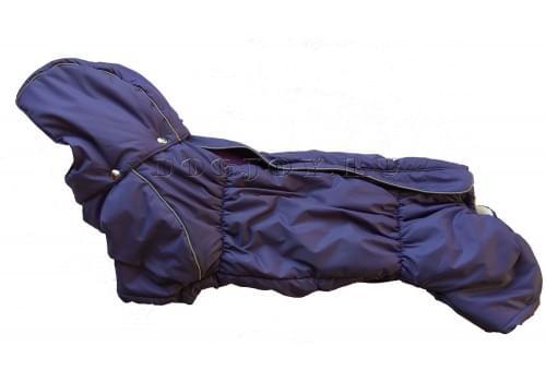 Комбинезон Пуховичок зимний на синтепоне и флисе с капюшоном для собак породы такса и вельш корги