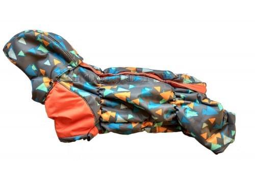 Комбинезон Dob-bob зимний на синтепоне и флисе с капюшоном для собак породы такса и вельш корги