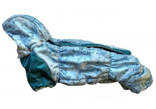 Комбинезон Мороз Long зимний на синтепоне и флисе с капюшоном для собак породы такса и вельш корги