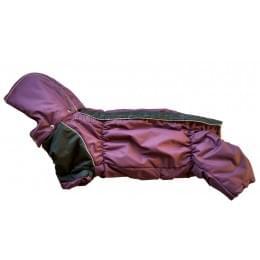 Комбинезон Long Lilac зимний на синтепоне и флисе с капюшоном для собак