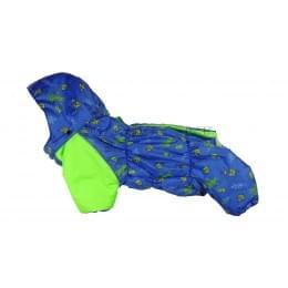 Комбинезон Салатовые роботы зимний на синтепоне и флисе с капюшоном для собак