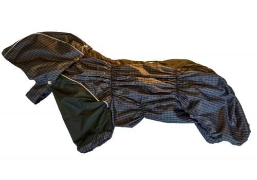 Дождевик Purplecage непромокаемый с капюшоном для собак породы мопс, французский бульдог, бигль, вест хайленд терьер, джек рассел, кокер спаниэль, фокстерьер, цвергшнауцер, шарпей, шотландский терьер