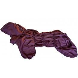 Дождевик Дутик-Бордо осенний с капюшоном для собак