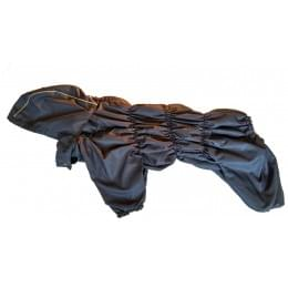 Дождевик Дутик-Синий осенний с капюшоном для собак