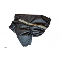 Куртка Черная Классика на флисе и синтепоне