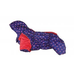 Комбинезон Красный крадрат зимний на синтепоне и флисе с капюшоном для собак