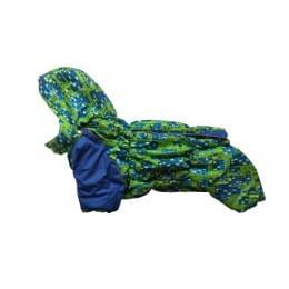 Комбинезон Домик зимний на синтепоне и флисе с капюшоном для собак