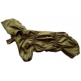 Дождевик ХакиДог осенний с капюшоном для собак