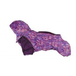 Комбинезон Розовое счастье зимний на синтепоне и флисе с капюшоном для собак