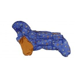 Комбинезон Робик зимний на синтепоне и флисе с капюшоном для собак