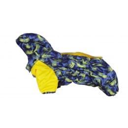 Комбинезон Желтая палитра зимний на синтепоне и флисе с капюшоном для собак