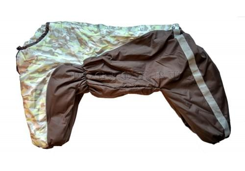 Комбинезон Светлый камуфляж утепленный на синтепоне для собак породы амстафф, бультерьер, некрупный далматин, шарпей, колли