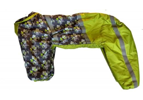 Комбинезон Геометрия утепленный на синтепоне для собак породы лабрадор, ретривер, далматин, боксер, доберман, кане корсо, колли, овчарка, риджбек, хаска
