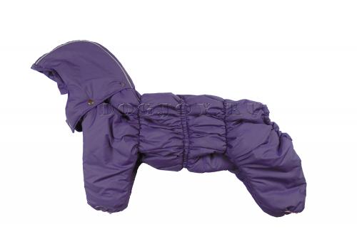 Комбинезон Liloday утепленный на синтепоне с капюшоном для собак породы бигль, шарпей, чау-чау, кокер спаниель, английский бульдог