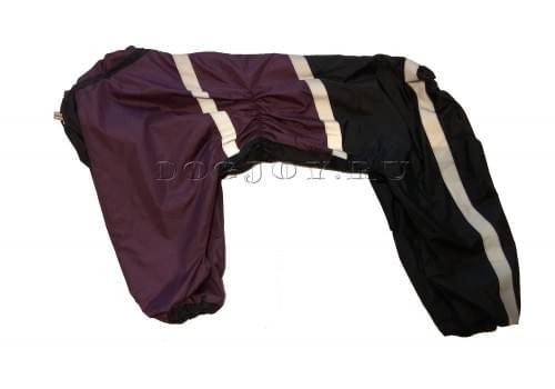 Дождевик Black Lilac 4 непромокаемый для собак породы лабрадор, ретривер, далматин, боксер, доберман, кане корсо, колли, овчарка, риджбек, хаска
