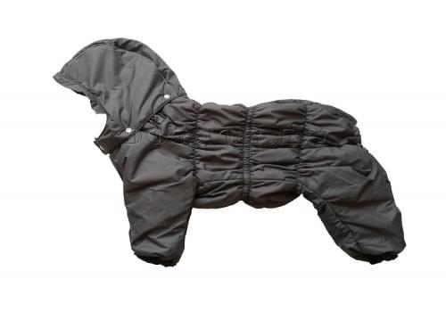 Комбинезон Greyday утепленный на синтепоне с капюшоном для собак породы бигль, шарпей, чау-чау, кокер спаниель, английский бульдог