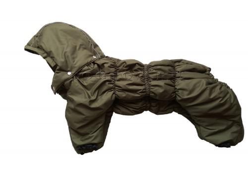 Комбинезон Greenday утепленный на синтепоне с капюшоном для собак породы бигль, шарпей, чау-чау, кокер спаниель, английский бульдог
