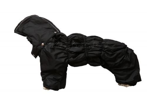 Комбинезон BlackCarry зимний на синтепоне и флисе с капюшоном для собак породы бигль, шарпей, чау-чау, кокер спаниель, английский бульдог