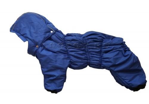 Комбинезон Superday утепленный на синтепоне с капюшоном для собак породы бигль, шарпей, чау-чау, кокер спаниель, английский бульдог