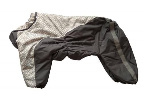 Комбинезон GreyFluffy утепленный на синтепоне для собак породы амстафф, бультерьер, некрупный далматин, шарпей, колли
