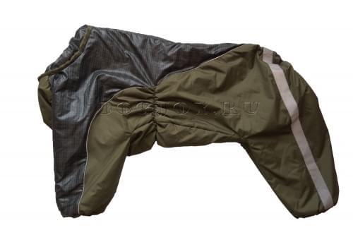 Комбинезон HappyFluffy утепленный на синтепоне для собак породы амстафф, бультерьер, некрупный далматин, шарпей, колли