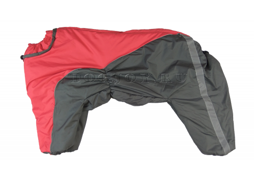 Комбинезон GreyRed утепленный на синтепоне для собак породы амстафф, бультерьер, некрупный далматин, шарпей, колли