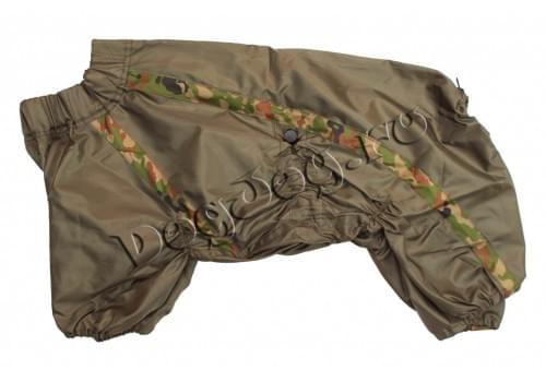 Дождевик Камуфляж непромокаемый для собак породы амстафф, бультерьер, шарпей, колли, далматин