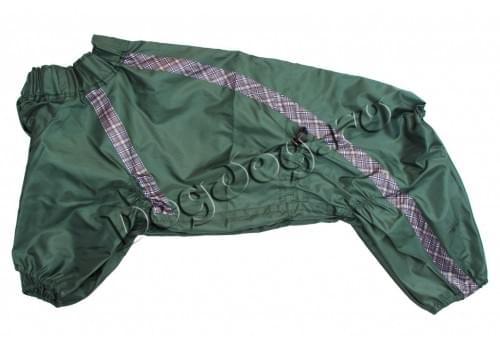 Дождевик Green Frog непромокаемый для собак породы амстафф, бультерьер, шарпей, колли, далматин