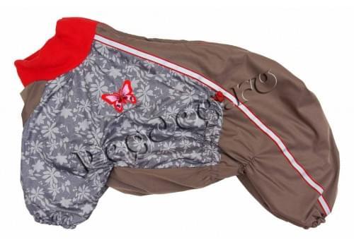 Комбинезон Fly зимний на синтепоне и флисе для собак породы амстафф, бультерьер, некрупный далматин, шарпей, колли