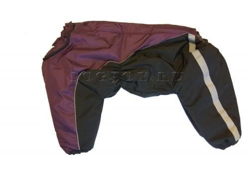 Комбинезон Black Lilac теплый на синтепоне для собак породы амстафф, бультерьер, некрупный далматин, шарпей, колли