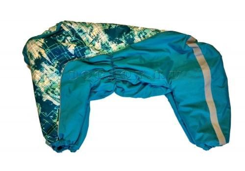 Комбинезон Калейдоскоп теплый на синтепоне для собак породы амстафф, бультерьер, некрупный далматин, шарпей, колли
