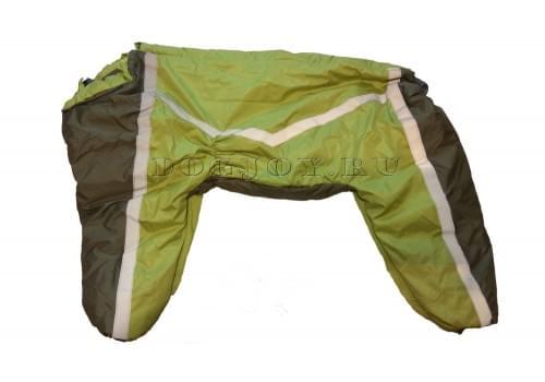Комбинезон Light Green утепленный на синтепоне для собак породы лабрадор, ретривер, далматин, боксер, доберман, кане корсо, колли, овчарка, риджбек, хаска