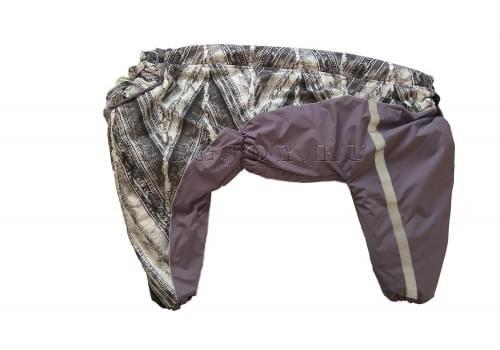 Комбинезон Светлая джинса утепленный на синтепоне для собак породы лабрадор, ретривер, далматин, боксер, доберман, кане корсо, колли, овчарка, риджбек, хаска