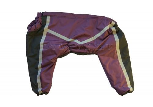 Комбинезон Black Lilac 3 теплый на синтепоне для собак породы лабрадор, ретривер, далматин, боксер, доберман, кане корсо, колли, овчарка, риджбек, хаска