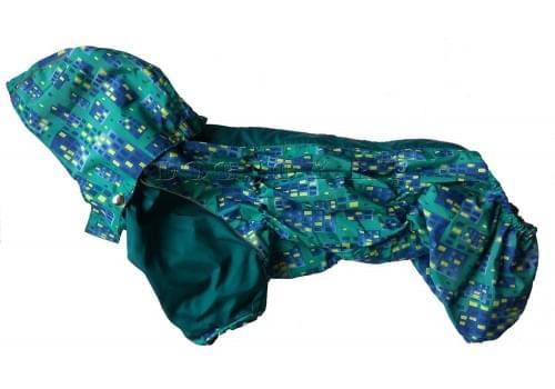 Дождевик Box непромокаемый с капюшоном для собак породы мопс, французский бульдог, бигль, вест хайленд терьер, джек рассел, кокер спаниэль, фокстерьер, цвергшнауцер, шарпей, шотландский терьер