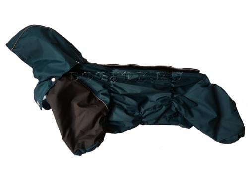Дождевик Темная Маскировка осенний с капюшоном для собак породы мопс, французский бульдог, бигль, вест хайленд терьер, джек рассел, кокер спаниэль, фокстерьер, цвергшнауцер, шарпей, шотландский терьер