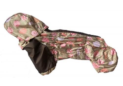 Дождевик Зонтик осенний с капюшоном для собак породы мопс, французский бульдог, бигль, вест хайленд терьер, джек рассел, кокер спаниэль, фокстерьер, цвергшнауцер, шарпей, шотландский терьер