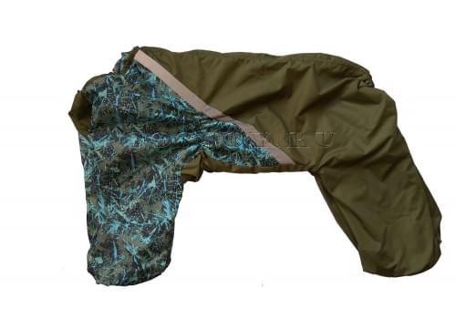 Дождевик Зеленая Клякса 2 осенний для собак породы лабрадор, ретривер, далматин, боксер, доберман, кане корсо, колли, овчарка, риджбек, хаска