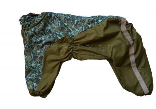 Дождевик Зеленая Клякса осенний для собак породы лабрадор, ретривер, далматин, боксер, доберман, кане корсо, колли, овчарка, риджбек, хаска
