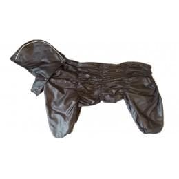 Дождевик Дутик-Шоко осенний с капюшоном для собак